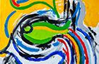 Appunti di Viaggio 2 - 2014, acrilico su tela, cm 50x50