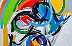 Appunti di Viaggio 3 - 2014, acrilico su tela, cm 50x50