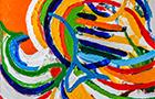 Appunti di Viaggio 4 - 2014, acrilico su tela, cm 50x50