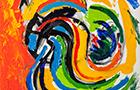 Appunti di Viaggio 6 - 2014, acrilico su tela, cm 50x50