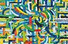 Fluxus - 2014, olio su tela, cm 40x40