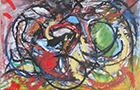 Il Grande Mare - 2014, pastelli ad olio su carta, composizione di 4 opere ognuno cm 29,5x21