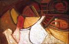 È una musica dentro di me - 1988, olio su tela, cm100x150