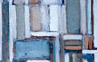 Composizione media - 1988, olio su tela, cm 100x70