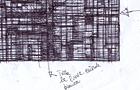 Bozzetto Trama metropolitana notturna - 2004, Penna su carta, cm 29,5x21