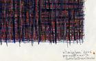 Bozzetto Ritmi urbani, 2006 - Pennarelli a tempera acrilica e pastelli, cm 29,5x21