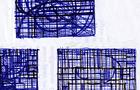 Bozzetto Cresce la città - 2000, Penna su carta, cm 23x21
