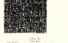 Bozzetto Città che emerge 1 - 2001, bianchetto e pennarello su carta, cm 29,5x21