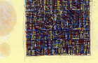Bozzetto Il colloquio dei palazzi - 2006, Penna, pennarelli a tempera acrilica e pastelli, cm 29,5x21