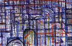 Bozzetto Giorno nuovo in città - 1996, penna, pennarelli e bianchetto su carta, cm 23,6x16