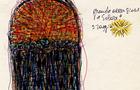 Bozzetto Grande occasione solare - 1993, penna e pennarelli su carta, cm 21x14,8