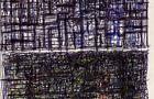 Bozzetto Intensità urbana - 1997, penna, pennarelli e pastelli su carta, cm 14,8x21