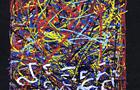 Bozzetto Rifiuti sulle strade - 1999, pastelli a tempera acrilica su carta, cm 16x29,5