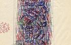 Bozzetto Vedo fiori - 1991, penne colorate su carta, cm 21x29,5
