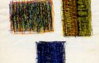 Bozzetto Vedo fiori - 1992, pastelli a tempera acrilica su carta, cm 21x29,5
