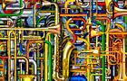 Il Concerto delle Tubature Sonore - 2012, computer grafica, cm 76x153