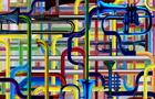 Tubi musicali - 2010, computer grafica, cm 80x100