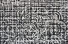 La Rete - 2012, terre e acrilico su tela, trittico, cm 400x170