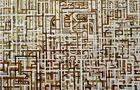 Come l'aurora che sorge - 2009, acrilico su tavola, cm 180x200