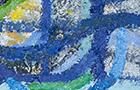 Il pesce curva - 2013, olio su tela, cm 25x20