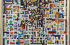 La città viene alla luce - 2004/05/06, olio, mosaico, plastiche, cm 114x84