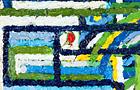 Manuscriptus n.1 - 2011, olio su tela, cm 50x20