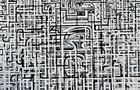Pietre angolari - 2010, acrilico su tela, cm 160x180