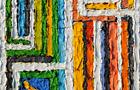 Segni Particolari più di uno - 2010, acrilico su tela, cm 25x20