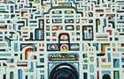 Trama urbana - 2006, olio su legno, cm 60x70