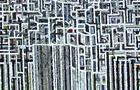 Verso l'alto - 2001, olio su tela, cm 81x97