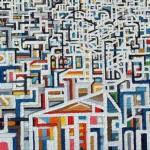 Bagliori di chiesa e di palazzi - 2006, olio su tela, cm 70x100