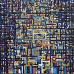 Città di notte - 2004, olio su tela, cm 97x91