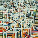 Costruzione - 2006, olio su tela, cm 135x92
