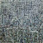 Fascio di luci - 2002, olio su tela, cm 155x155