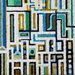 Il colloquio della città con la Scala Santa - 2007, acrilico su tela, cm 40x80