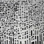 Il filo dell'ordito - 2007, acrilico su tela, cm 70x100