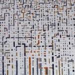 Tessuto urbano - 2007, acrilico su tela, cm 70x100
